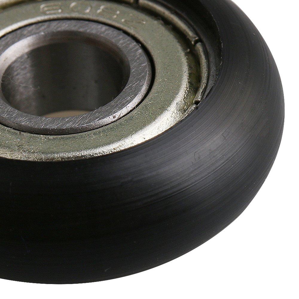 8x30x8.5mm Wei/ß Kugellager F/ührungsrolle Roller Runde Rad Last 87 KG f/ür T/ür Fenster 4er Pack