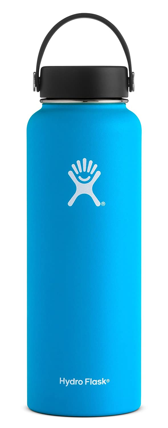 Hydro Flask 40 oz Double Wall Vacuum Insulated Stainless Steel Leak Proof Sports Water Bottle, Wide Mouth with BPA Free Flex Cap, Pacific