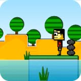 Jumpy Block Skim : A Skipping Stone Game - by Cobalt Play Games