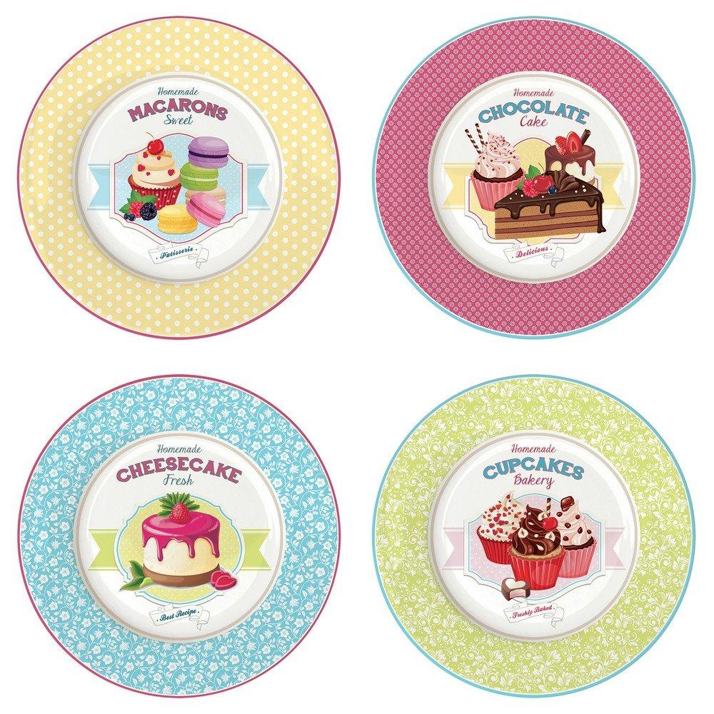 1170 Marca Stampo Morbido Bake Oven Set Di 4 Piatti Da Dessert
