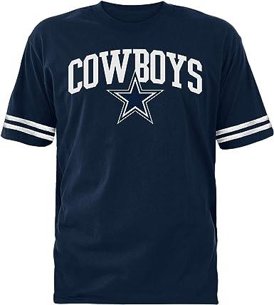Men/'s Dallas Cowboys Black Big /& Tall Fierce Helmet T-Shirt
