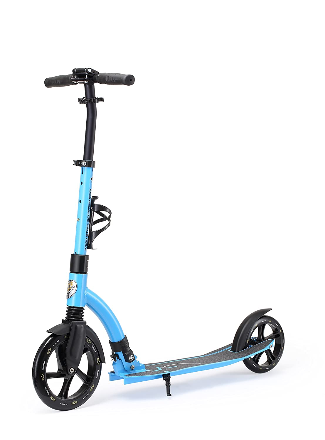 Star-Scooter Patinete 230mm Premium Big Wheel Plegable, para Adultos y niños Desde Aprox. 8 años ★ Ultimate Edition ★