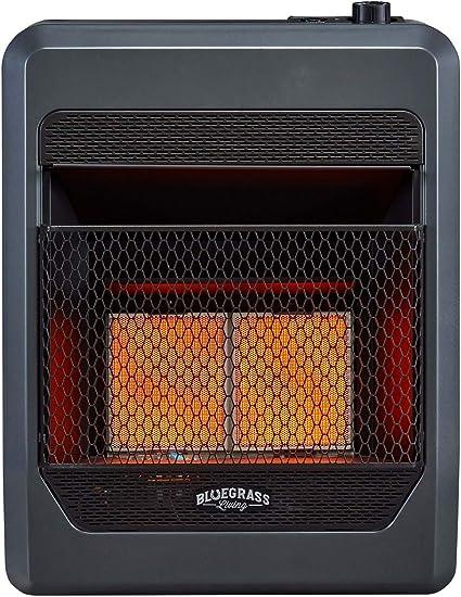 Bluegrass Living B18TPIR-BB Propane Vent Free Infrared Gas Space Heater