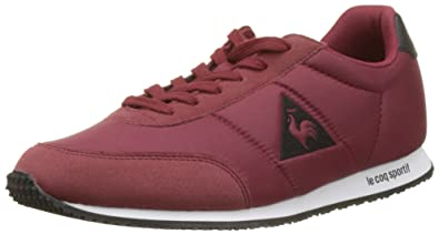 reputable site 0622a ca8ce Le Coq Sportif Unisex Adults  Racerone Nylon Bass Trainers, Red, ...
