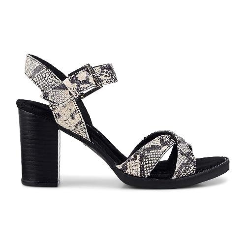Cox Damen Damen Trend Sandalette aus Leder, Riemchen