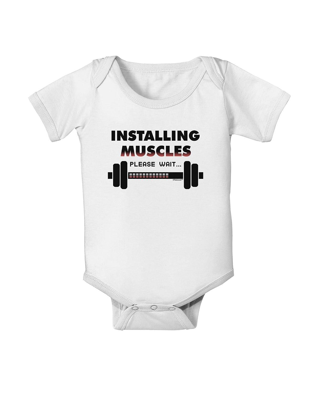 TooLoud Installing Muscles Baby Romper Bodysuit