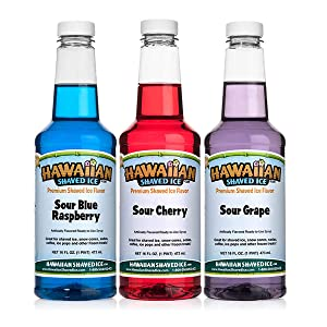 Hawaiian Shaved Ice Sour Syrup 3 Pack, Pints