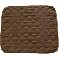 "RMS CP-600BW Absorbent Washable Reusable Incontinence Chair Seat Protector Pad, Underpad, 3-Layer Innovative Design, 350 Washes Guarantee, 21"" Width, 22"" Length, Brown"