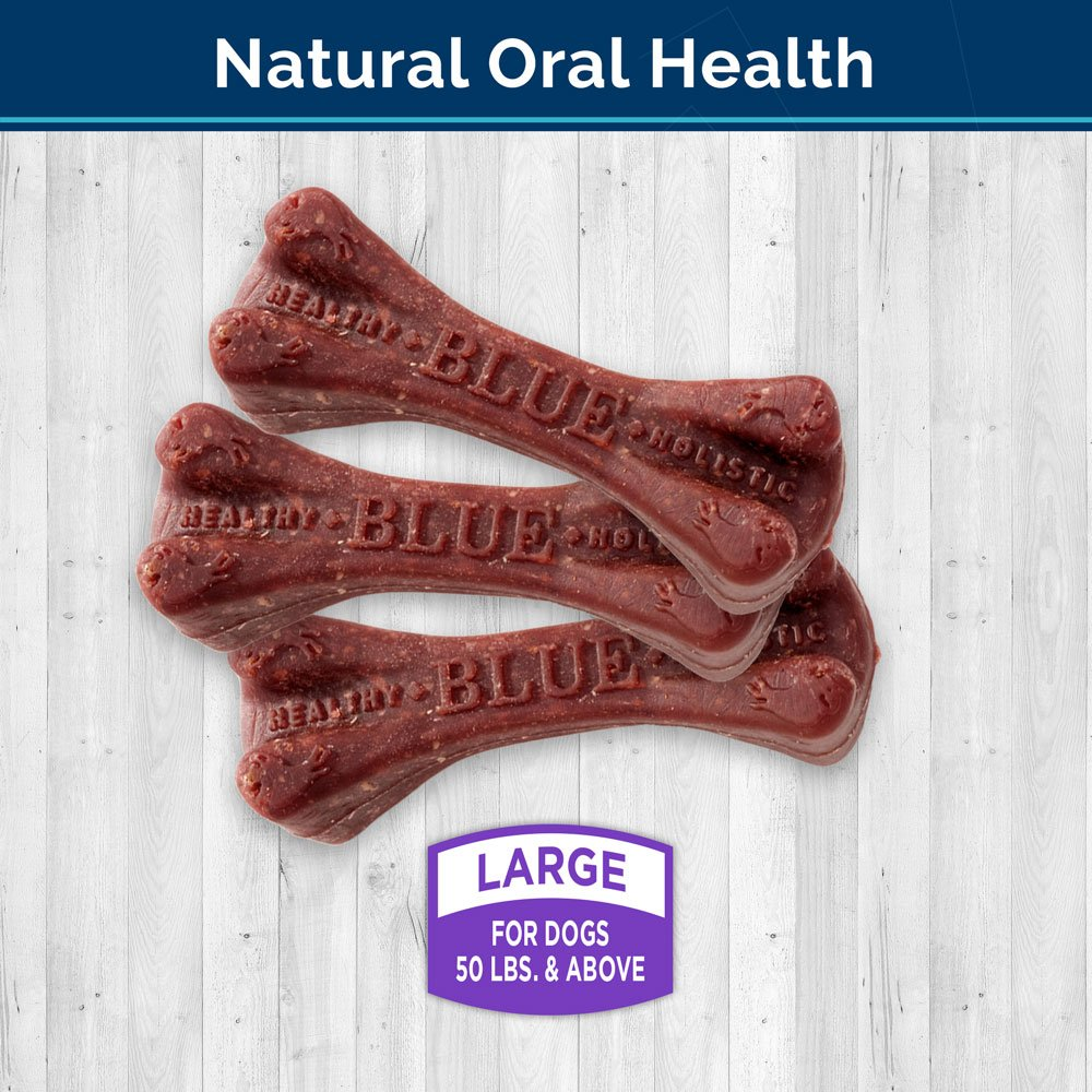 Blue Buffalo Dental Bones Natural Adult Dental Chew Dog Treat, Large 12-oz bag by Blue Buffalo (Image #2)