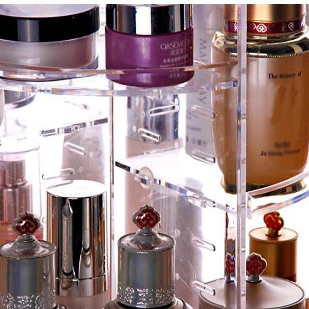 Glenmore Schmink Aufbewahrung Make Up 360 Grad Drehbarer Kosmetik Organizer Transparent B2351