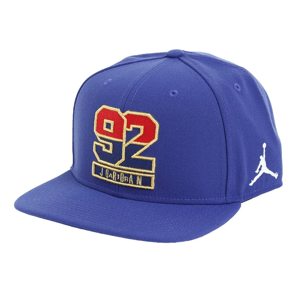 82064b7bcd8 Amazon.com  Air Jordan Retro 7  92 Snapback Hat in Deep Royal Blue Fire  Red  Sports   Outdoors