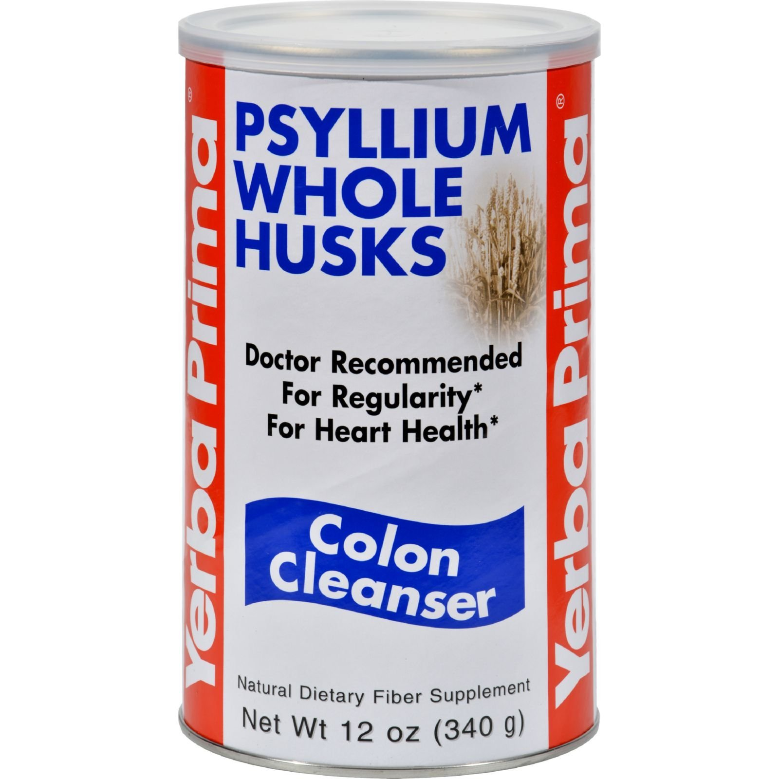 Yerba Prima Psyllium Whole Husks, Colon Cleanser 12 oz ( Pack of 2)