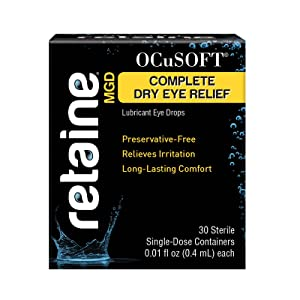 Ocusoft Retaine MGD Ophthalmic Emulsion, Milky White Solution,30 count Single Use Containers, 0.01 Fluid Ounce