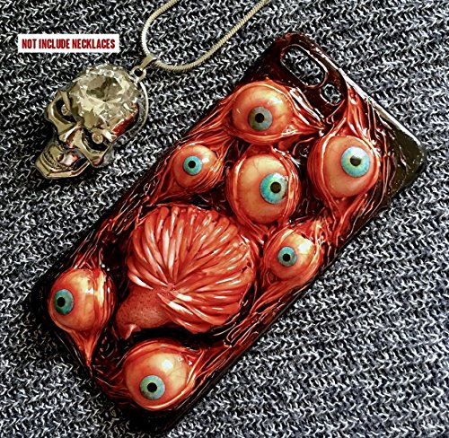 Galaxy S6 Edge Case, SHEROX Handmade Horror Fangs Tongue Bloody Eyes Ball Hard Cover Case for Samsung Galaxy S6 Edge (Fangs Tongue Eyes)