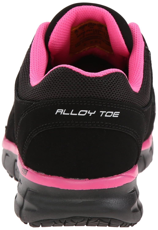 Skechers for Work Women's Synergy Sandlot Alloy Toe Lace-up Work US|Black/Pink Shoe B00NLI7YRU 5.5 XW US|Black/Pink Work 0b469b