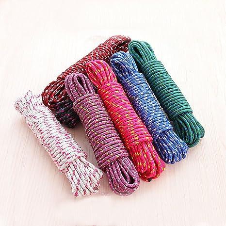 Hongfutong Tough Thick Windproof Washing Line Washing Cloth Rope//Cord LongLife Plastic Nylon Rope 10 meters green