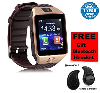 7221c191a0851a Drumstone DZ09 Bluetooth Smart Watch Phone with Camera: Amazon.in:  Electronics