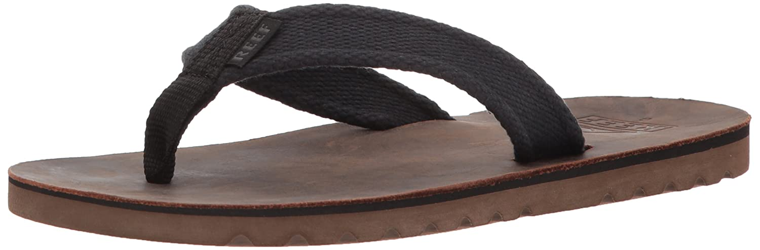 TALLA 37.5 EU. Reef Voyage TX Black/Brown, Chanclas para Hombre