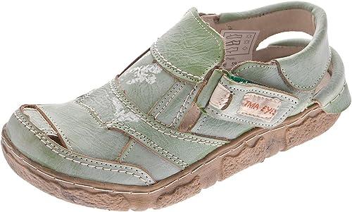 Damen Comfort Leder Halbschuhe TMA 7008 Sommer Schuhe