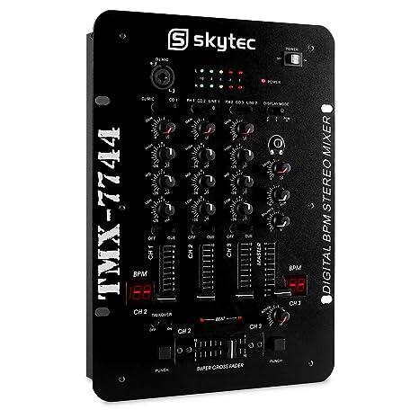 Skytec de 3 canales Mezclador profesional DJ Club/Battle Licuadora ...