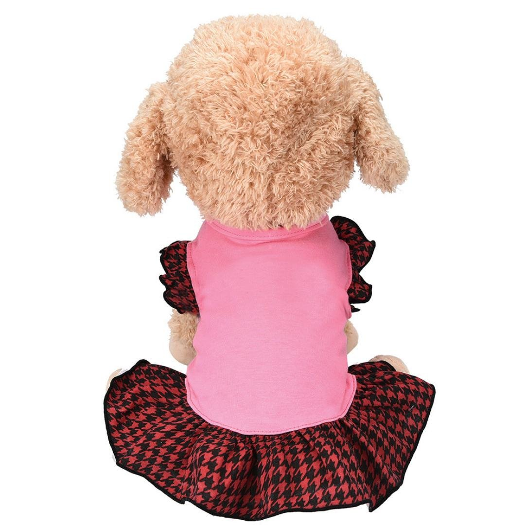 Wakeu Pet Clothes Puppy Vest Dog Dresses for Small Dogs Girl Summer Apparel (M, Pink)