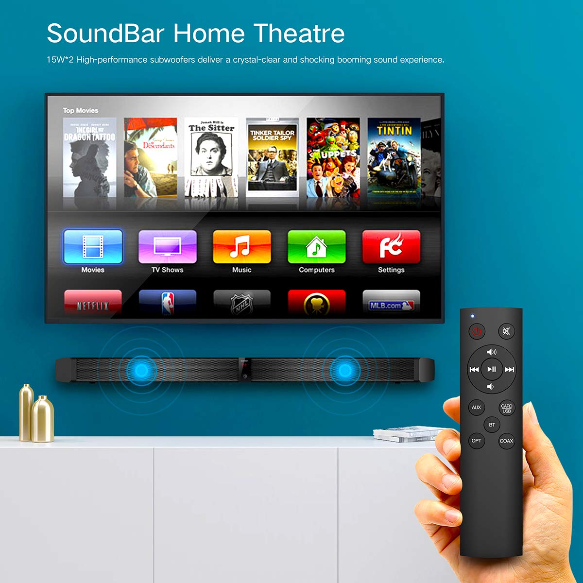 Amazon.com: Sound Bar for TV, ELEGIANT 31 Inch Wired and Wireless ...