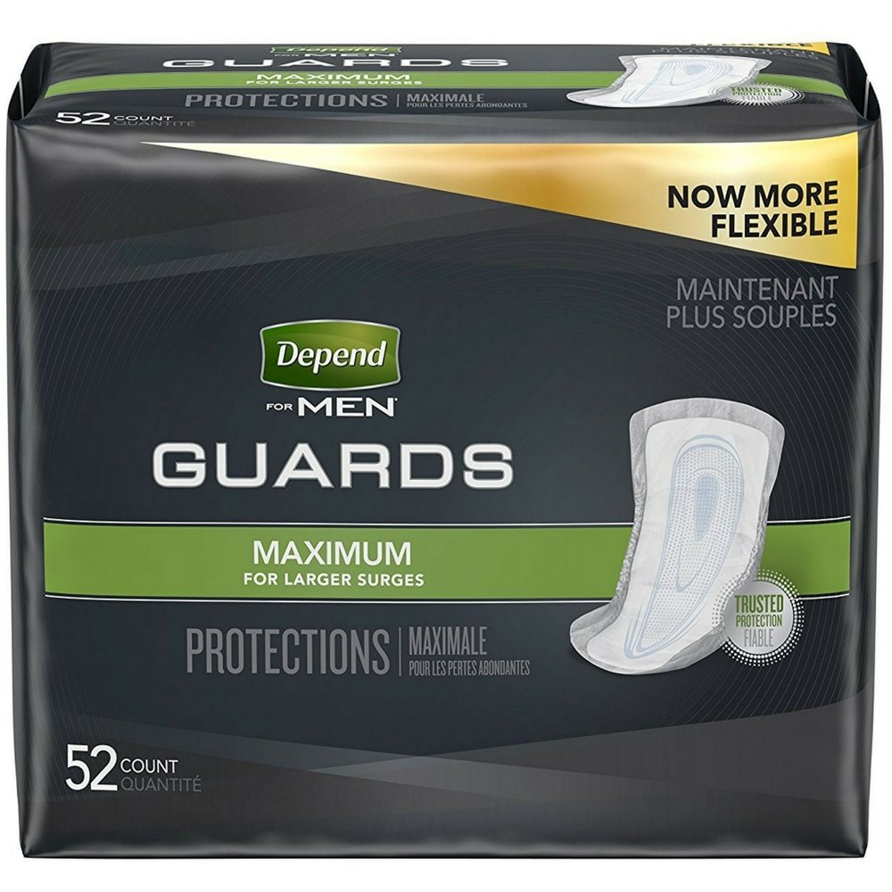 Depend For Men Incontinence Guards, Maximum Absorbency 52 ea ( 3 pack)