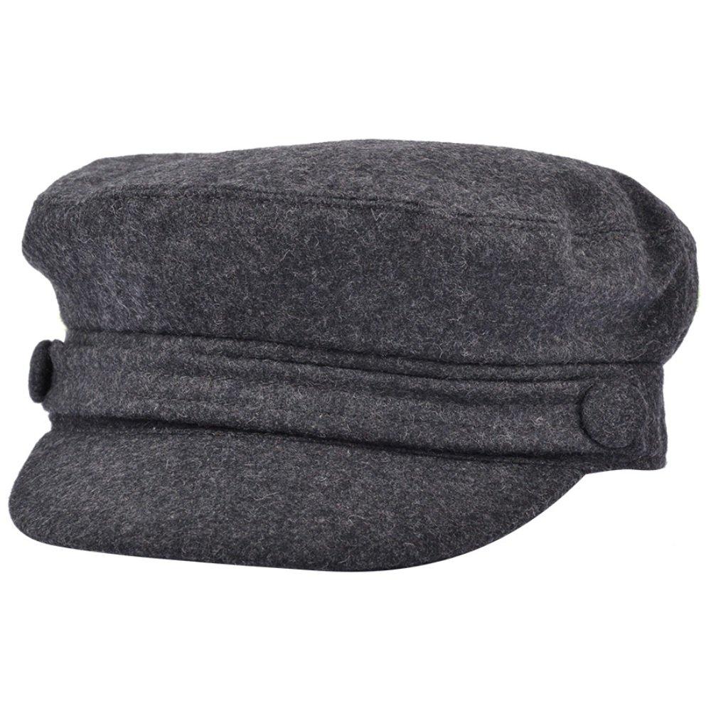 GREY WOOL BLEND FIDDLER CAP G&H