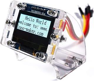 0.96 Inch I2C IIC Serial 128x64 OLED Module LCD Display 4 Pin Font Color Yellow&Blue for Raspberry Pi Zero, Zero W, 3B, 3B+, STM32, Ardunio, Beaglebone Black (Blue&Yellow)