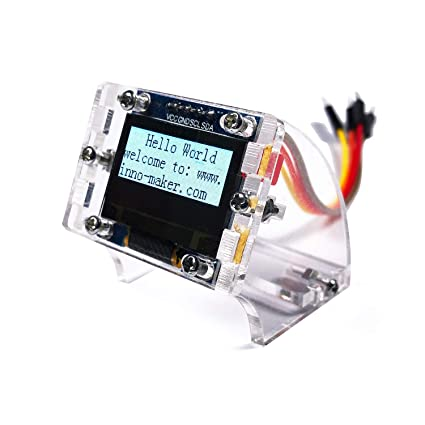 0 96 Inch I2C IIC Serial 128x64 OLED Module LCD Display 4 Pin Font Color  White for Raspberry Pi Zero, Zero W, 3B, 3B+, STM32, Arduino, Beaglebone