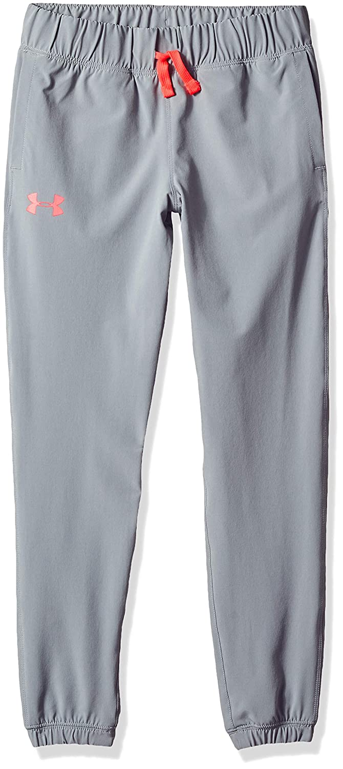 Under Armour Girls Jersey-Lined Woven Jogger