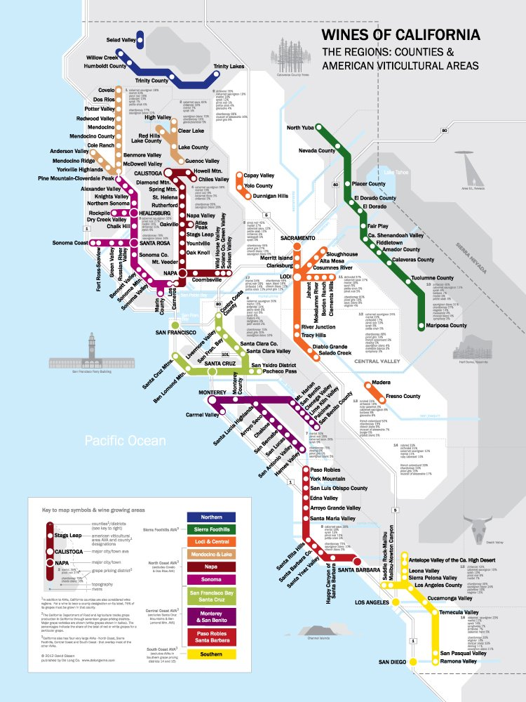 Metro Wine Map of California pdf