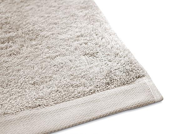 Herzbach Home - Juego de baño, calidad premium, toalla de ducha (2 toallas de lujo, 100% algodón egipcio, 70 x 140 cm, 600 g/m²), algodón, sandgrau, ...