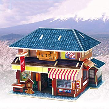 Recontramago Puzzle 3d Casa De Dulces Japoneses Coleccion Casas