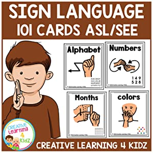 American Sign Language Cards Set 1 ASL