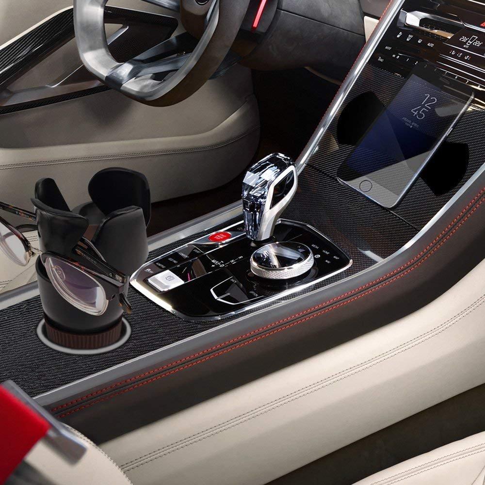 5 in 1 Multi-Functional Holds Mugs Organizer,Adjustable Car Cup Holder Drink Phone Holder Little Stuff Storage Cup Xultrashine Car Cup Holder Black.