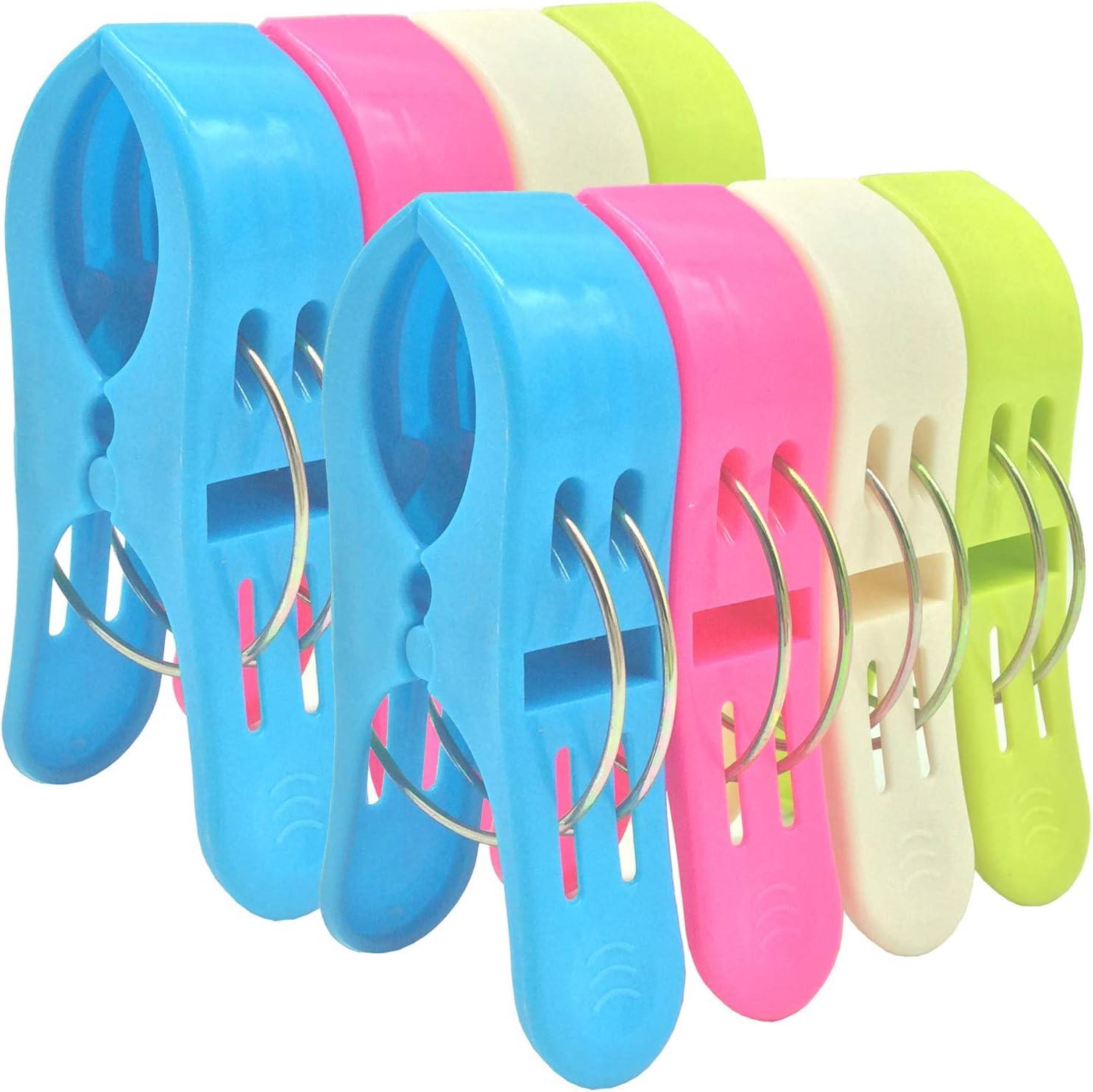 Bingolar 8psc Toalla de playa Clips,Big plástico resistente clips ...