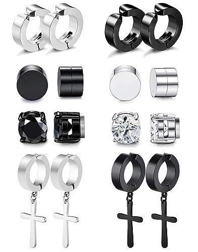 Amazon.com: RIOSO - Pendientes magnéticos para hombre y ...