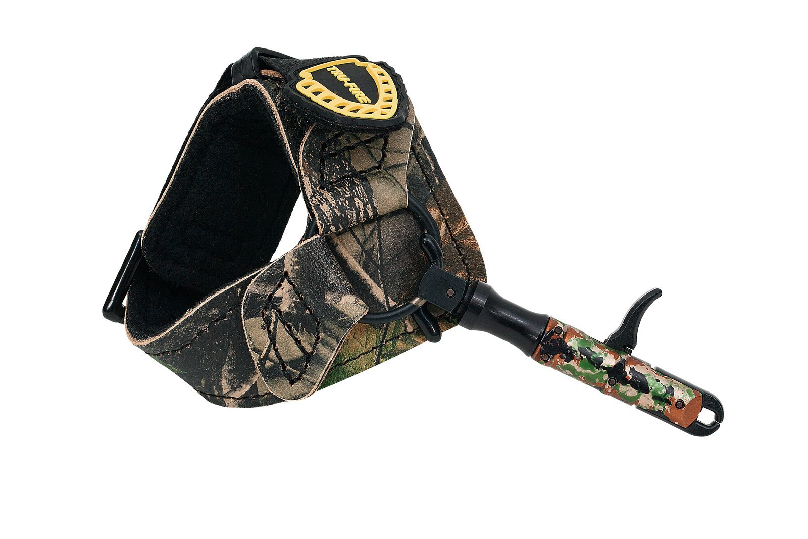 TruFire Edge Buckle Foldback Youth Archery Compound Bow Release - Adjustable Camo Strap for Smaller Wrists