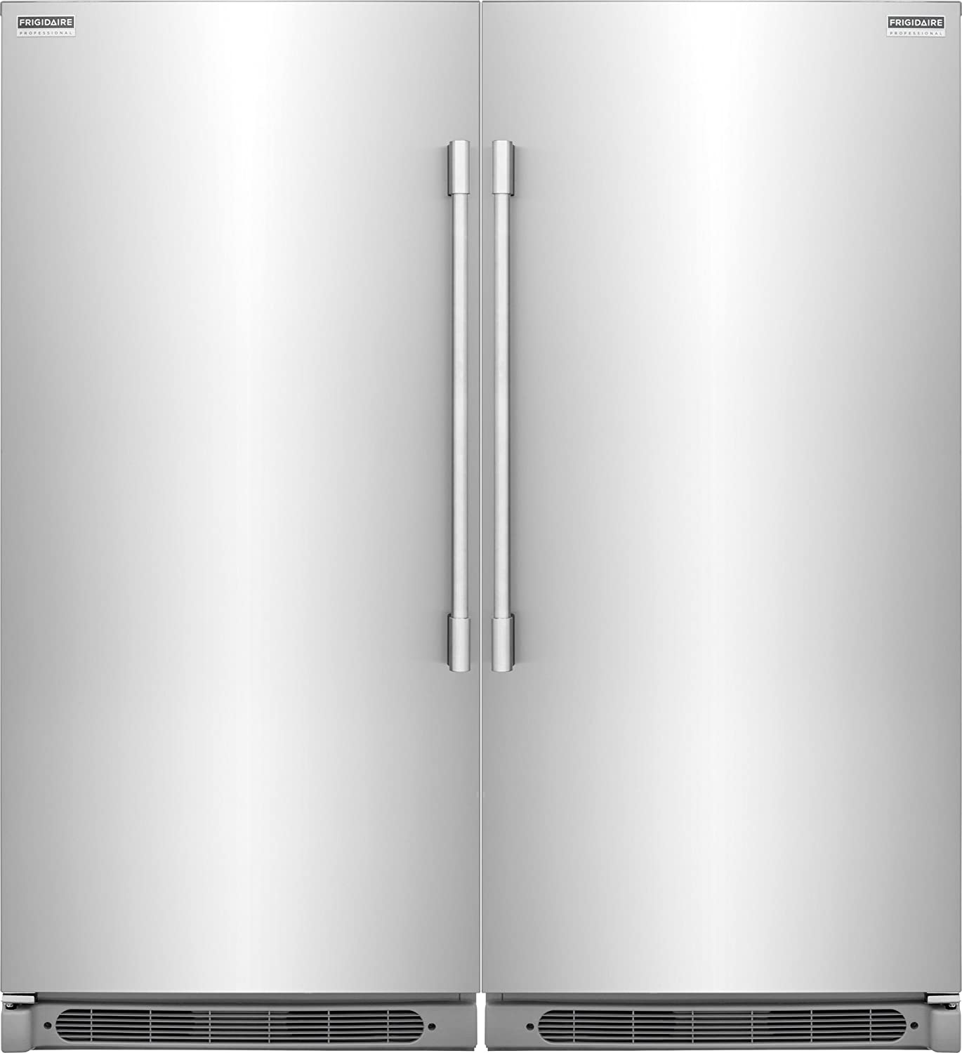 amazoncom frigidaire series builtin all all freezer combo with easy care stainless appliances