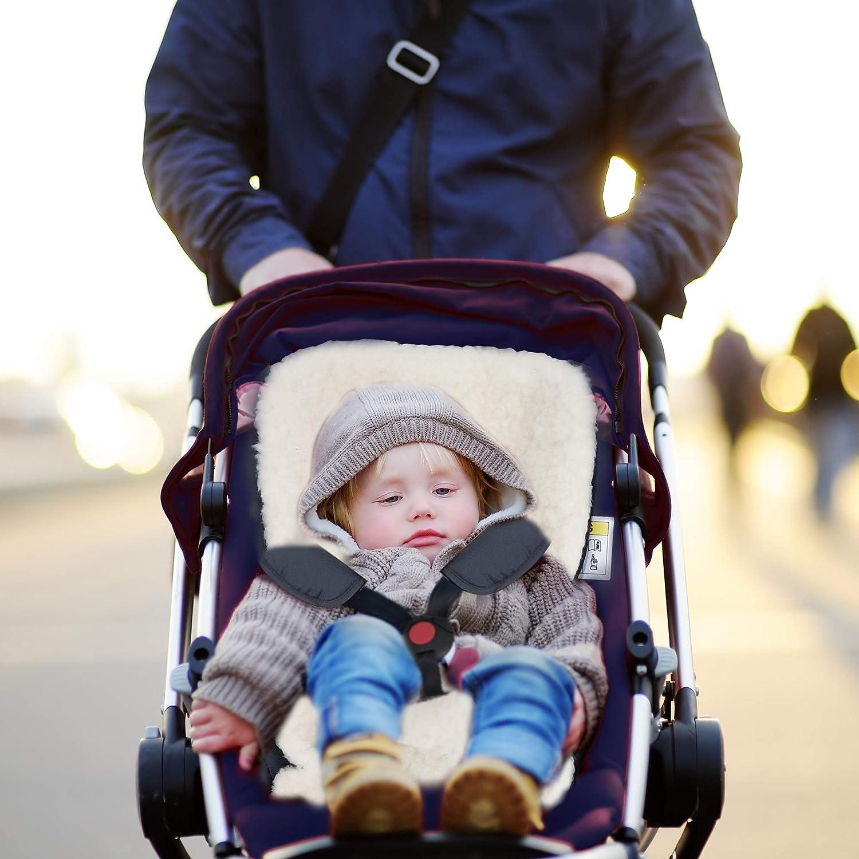Universal-Bezug f/ür Kinderwagen CRISCIN Universal-Kinderwageneinlage aus reiner Schafwolle Wiege und Babyschale