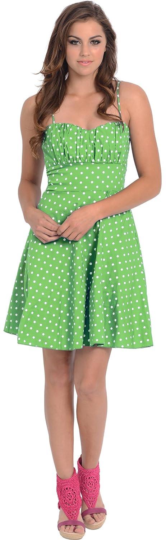 ba49354d92 Brand-new 50's Retro Rockabilly Polkadot Dress Sundress at Amazon Women's  XG23