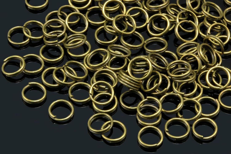 5mm - 100 St/ück, Goldfarben INWARIA Spaltringe /Ø 4//5//6//7//8//9mm Spiralringe Doppel Ringe Binderinge /Ösen Biegeringe