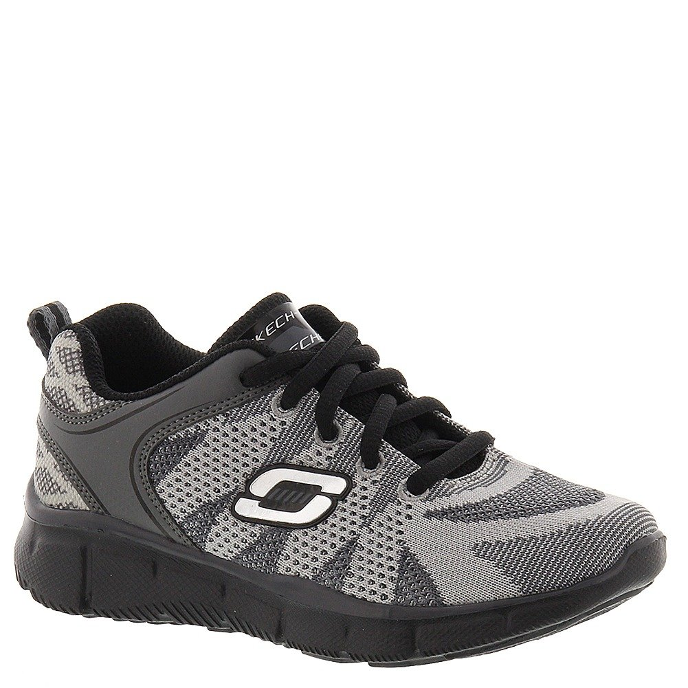 Skechers Boys' Equalizer Quick Reaction Sneaker,Charcoal/Black,US 12 M