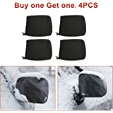 KAKIT 4PCS Mirror Covers, Universal Snowproof Waterproof Car Snow Covers, for Ice and Snow, Winter, Outdoor, Outside, Fit Car, SUV, CRV, Pickup, Truck, Vehicle, Automotives