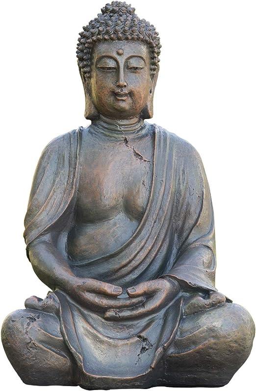 Amazon Com Alpine Corporation Meditating Buddha Statue Outdoor