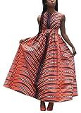 Rebecca Women Boho African Floral Print Pleated