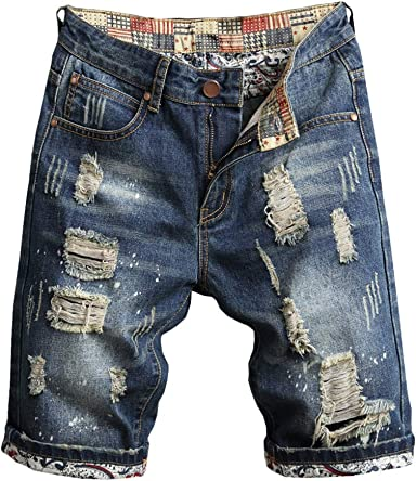 Bermuda pantaloncini pantaloncino pantaloni corti jeans da uomo sportivi 46 54 4
