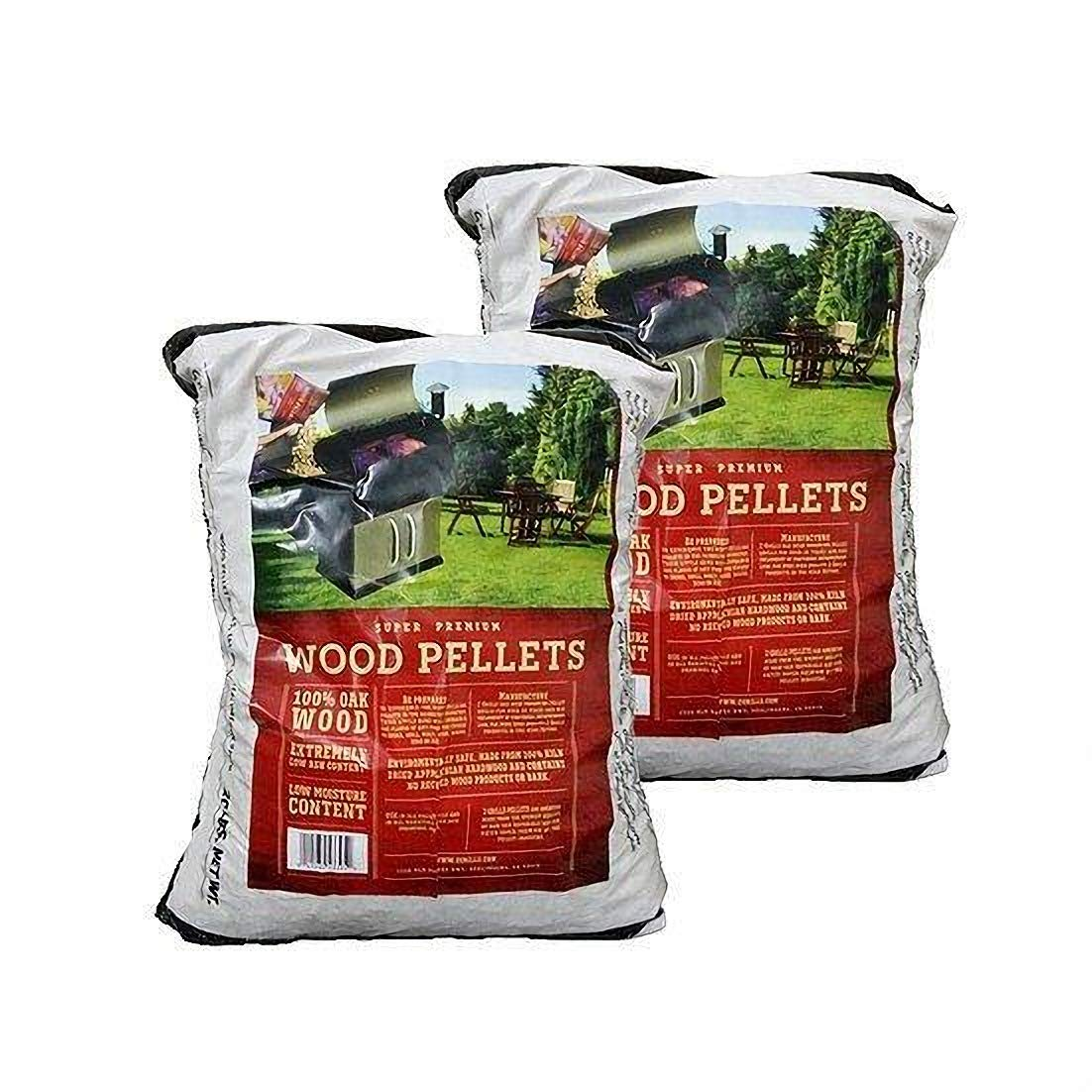 Z GRILLS 100% All-Natural Hardwood Pellets - 2 Pack- Grill, Smoke, Bake, Roast, Braise, and BBQ (20 lb. Bag) - Made in USA by Z GRILLS