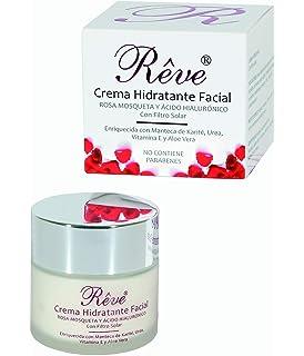 Crema Facial Hidratante con Rosa Mosqueta + Vitamina E + Ácido Hialurónico Sin Parabenos FPS15 50